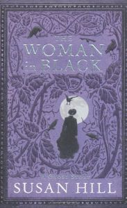 woman in black book